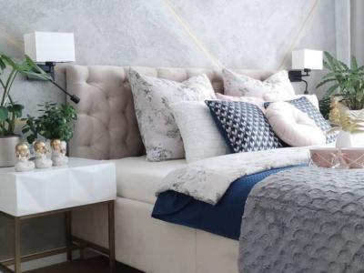 Hotelowe lampy Hilary w pięknej aranżacji – idealne kinkiety przy łóżko